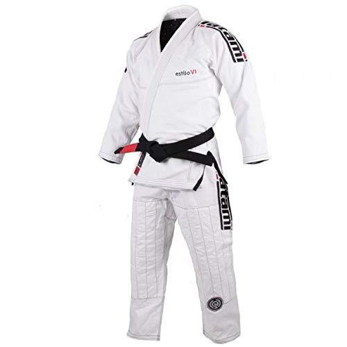 Estilo 6.0 Mens Jiu-Jitsu Gi High-Quality Medium Weight Durable Professional Made Jiujitsu Uniform Pants and Jacket , Bianco & Blu, A1F