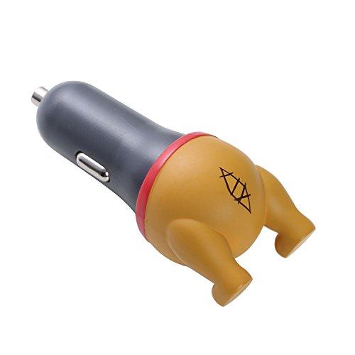 ディズニー カーチャージャー シガーソケット 急速 USB DC充電器 車載 充電器 2.1A おしり / プー