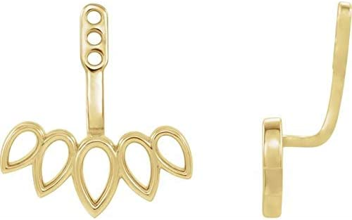 14K Yellow Gold Earring Jackets Front-Back Earring Jackets