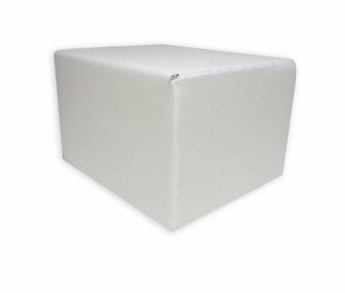 Dibapur Bandscheibenwürfel mit Weißen Bezug, Stufenlagerung, Stufenlagerungswürfel, Stufenbett, Reha, Orthopädischer, Positurkissen, Lagerungskissen, Stufenlagerung - 55 cm x 45 cm x 35cm