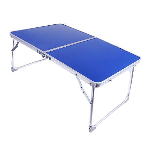 Baoblaze Mini Bureau Pliant Table de Camping Barbecue Extérieur Pique-Nique Bureau de Lit - Bleu