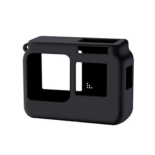 XINGRUI Alta tecnología for Insta360 un R 4K con Marco de Silicona Protectora a Prueba de Golpes con la Cubierta del Casquillo de Lente (Negro) (Color : Black)