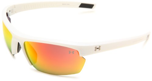 Under Armour Stride XL Sunglasses Oval, White/Gray Lens, one Size