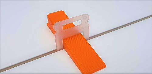 MASOTEC Nivelliersystem Verlegehilfe für Fliesen | Zuglaschen 3mm | Direkt vom Hersteller