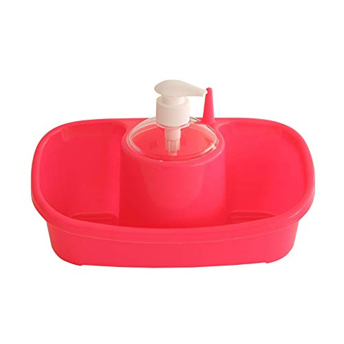 takestop® opbergdoos met blikdispenser met 2 vakken van kunststof 26 x 13 x 14 cm deurspons organizer washandjes keukenhandschoenen.