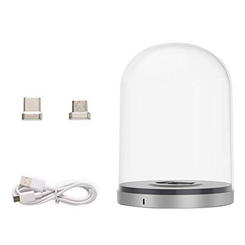 kdjsic Compatible con Mini/Mini 2 Bell Jar Magnetic Micro con USB-C Drone Compatible con Mini/Mini 2 Base de Carga Accesorios diseñados