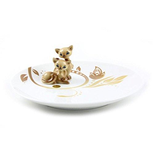 Goebel Siam Kitty Teller, Hartporzellan, bunt, 20 x 20 x 7 cm