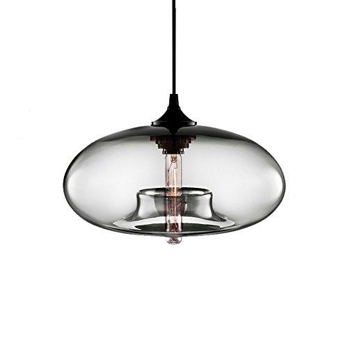 Wings of wind - Industrial vintage lampadario E27 lampada a sospensione soffitto colorato Glass Cage (Trasparente)