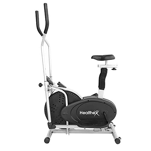 Healthex Orbitrac Exercise Cycle For Home Gym 4-1 Orbitrack Cycle Fitness Cross-Trainer (Black/Silver)
