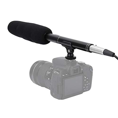 Cameramicrofoon, interviewmicrofoon Draagbare YC-CFM360 Draagbare stereo-opnamemicrofoon voor DSLR-camera-camcorders van mobiele telefoons