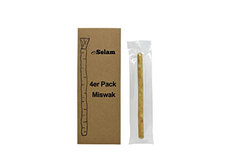 eSelam 4x Premium Miswak, Siwak, Naturzahnbürste, gesunde Zahnbürste, Holzzahnbürste, vegan, natürliche Zahnbürste
