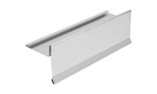INEFA Ortblech mit Wasserfalz Aluminium 200cm - Alu, Kappleiste, Ortgangblech, Zubehör für Gartenhaus, Dachrinne, Anschluss