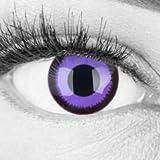 Funnylens 1 Paar farbige rosa pink lila schwarze crazy fun Jahres Kontaktlinsen purple lunatic mit schwarzem Rand 1 Paar Topqualität zu Fasching und Karneval mit gratis Kontaktlinsenbehälter ohne Stärke!