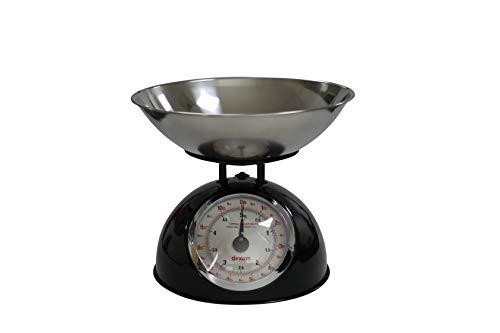 Dexam - Bilancia da cucina retrò, in acciaio INOX, 24,7 x 24,7 x 24,7 cm