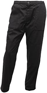 Regatta Mens New Lined Water Repellent Elastic Action Trousers (Short Leg) Black