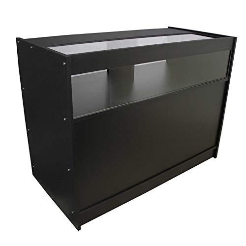 MonsterShop - Mostrador B1200 con Acabado en Negro para Tienda y Recepción 120cm x 60cm x 90cm