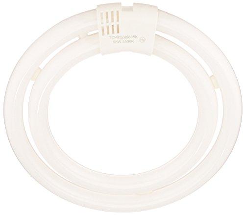 TCP CFL Double Circle Lamp, 200W Equivalent, Bright White (3500K) T6 Circline Lamp