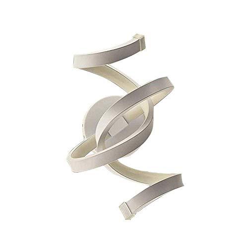 Dfgdf Lámpara de Pared Aplique de Pared en Espiral de Metal Interior Blanco, Lámpara de Pared LED Minimalista Moderna, Lámpara de Pared contemporánea