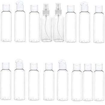 Portable Spray Travel Bottles Set with Flip Cap 3.4oz/100ml  22 pcs