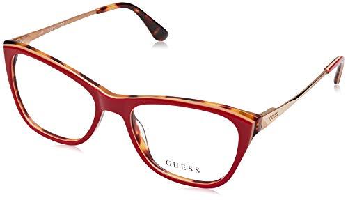 Guess Unisex-Erwachsene GU2604 068 52 Brillengestelle, Rot (Rosso)