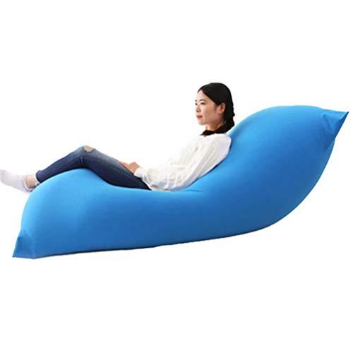 ビーズクッション 特大 ソファ クッション 人をダメにするソファ 柔らか 疲労を軽減 洗えるカバー 120*65cm (ブルー)