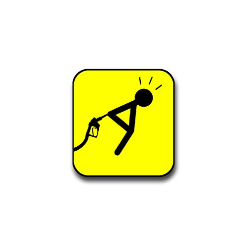 Stickers spritabzocke fürn-cul de plaisir fun humoristique abzocken panneau mDF motif : petits personnage pour carburant volkswagen gTI polo de golf bMW série 3 mercedes audi opel ford (7 x 7 cm #a1390