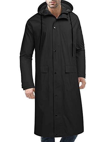Mens Faux Fur Hooded Coat, Sunyastor Winter Thicken Jacket Warm Outwear Outdoor Lined Fleece Zipper Outcoat