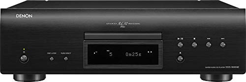 Denon DCD-1600NE Single Disc Super Audio CD Player   Exclusive Vibration-Resistant Design   Powerful Processing   Plays All Modern File Formats   Pure Direct Mode   Optical, Digital Coaxial Outputs
