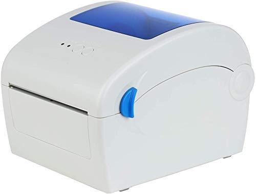 WWJL USB Auto tragbaren Barcode-Drucker, 2-8inch / s 203dpi USB Direct Thermal Hochgeschwindigkeits 4in Versandadresse Porto Drucker, mit Etiketthalter Multi System Spport,1