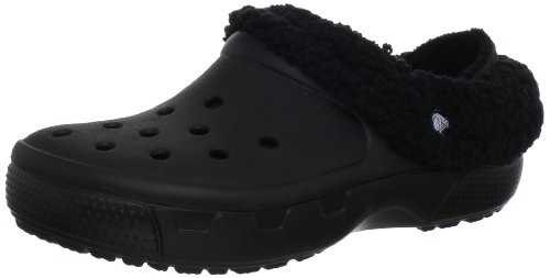 crocs Unisex Mammoth EVO Lined Clog,Black/Black,12 M US