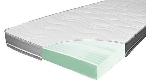 ARBD Matratzenauflage - Topper | Modelle mit 7-12cm Gesamthöhe | waschbarer Bezug mit 3D-Mesh-Klimaband (H3 Rave XXL - 12cm, 180 x 200 cm)