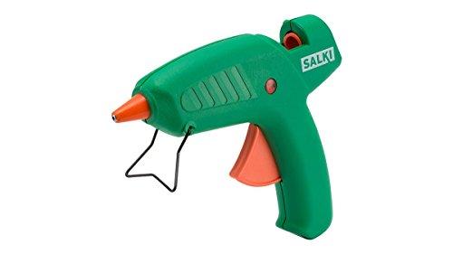 salki 8501050.0 Pistola Encoladora de Silicona Caliente Ideal para Creatividades y Bricolaje, 70 W, 240 V, Verde