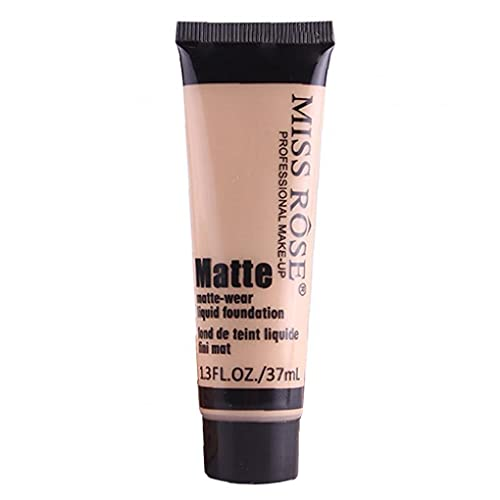 TongICheng Miss Rose La Base Líquida Mate Hidratante Corrector Base De Maquillaje Cara Bloqueador Solar Crema Beige1