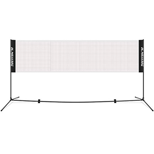 MaxKare Portable Badminton Net Set for Tennis Volleyball Net Set 17FT with Poles Professional Durable Easy Setup Nylon Net for Adult&Kid's Indoor & Outdoor