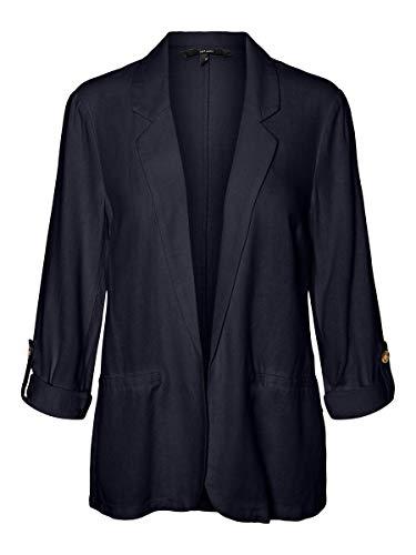 Vero Moda VMHELENMILO 3/4 Loose Blazer Wvn, Cielo Notturno, XS Donna