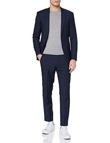 ESPRIT Collection Herren 110EO2M301 Business-Anzug Hosen-Set, 407/DARK Blue 3, 54