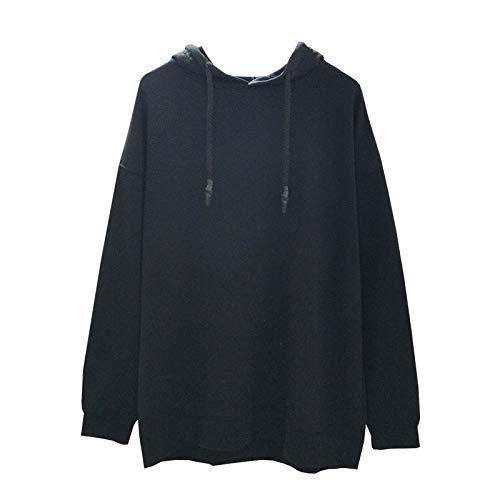 HOSD para Color Capucha de Mujer sólido con de Suéter Suelto Deportivo Informal Invierno