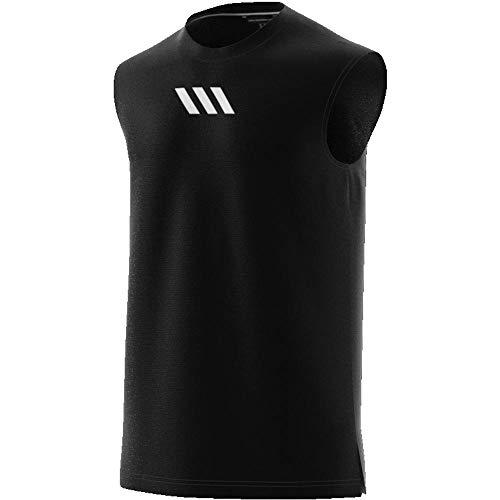 adidas PM SL Tank Camiseta sin Mangas, Hombre, Black, M