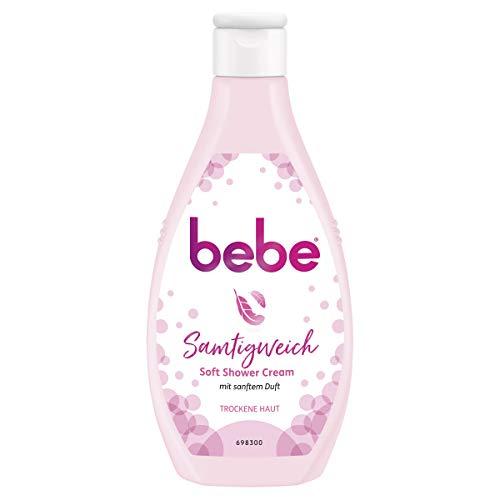 bebe Samtigweich Soft Shower Cream mit sanftem Duft, cremiges Duschgel für normale bis trockene Haut (6 x 250 ml)