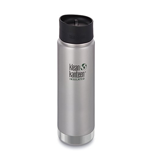 Klean Kanteen Wide Vacuum Insulated Water Bottle, Brushed Stainless, 20 oz