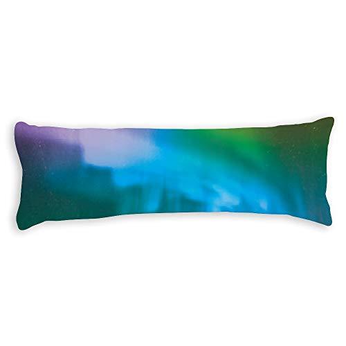Fundas de almohada para pelo y piel de 50 x 60 cm, color menta menta verde boreal decorativa funda de cojín para sofá, dormitorio o coche
