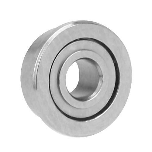 10 piezas de rodamientos de bolas de ranura profunda en miniatura con bridas, F681-ZZ/F682-ZZ/F683-ZZ, 1,5/2/3 mm D.I.4/5/7mm O.D, rodamientos de acero cromado blindados(F681-ZZ)
