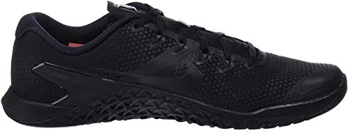 Nike Men's Metcon 4 Black/Hyper Crimson Cross Training Shoes (10 D(M) US Men)