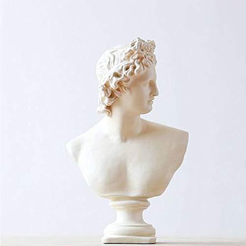 CZ-wyf Estatuilla de Resina de David, Cabeza Retratos Busto de Yeso Mitología Griega Escultura Estatua Coleccionables Decorativos para Adornos de Resina para jardín, Alto 32 cm