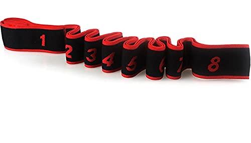 Yoga Pierna Tirar Ligamento Cinturón Elástico Cinturón Elástico Cinturón Yoga Correa Tirar con La Espalda Baile Latino Rojo (Todos los tamaños 90 cm para niños / Adultos)