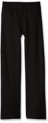 Hanes Girls' Big Girls' Comfortsoft Ecosmart Open Bottom Fleece Sweatpant, Black, S