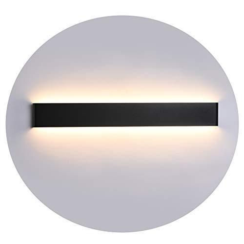 Preisvergleich Produktbild Ralbay LED Wandlampe Up & Down Wandleuchte Innen Spiegelleuchte Warmweiß 3000K Badlampe Wasserdicht 24W für Badzimmer Schlafzimmer Wohnzimmer Treppen 27.9IN Schwarz