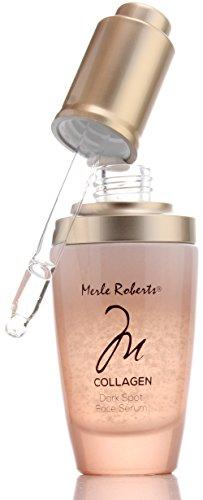 Merle Roberts Dark Spot Serum with Collagen. Anti-aging serum for Wrinkles, Sagging Skin, & Fine lines. With Bulgarian Rose & Antioxidant Superfood botanicals Kale, Acai, & Noni. (1oz)