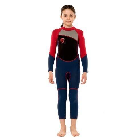 Z.L.FFLZ Nadelanzug Neoprenanzug for Lange Ärmel Kinder Taucheranzüge Kinder Swimwears EIN Stück Schnorcheln Rashguard Neoprenanzug Surfen (Color : 7, Size : 12 Height 140 150CM)