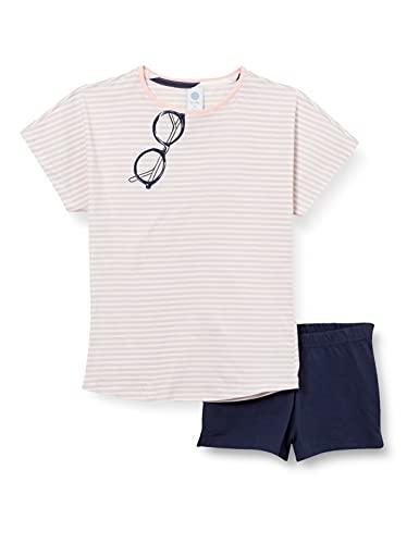 Sanetta Mädchen Schlafanzug kurz blau Pyjamaset, Heather, 164